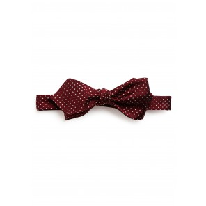 Crimson Pin-dot Bow Tie