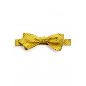 Yellow Pin-dot Bow Tie