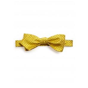 Yellow Pin-dot Bow Tie