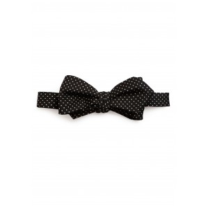 Black Pin-dot Bow Tie
