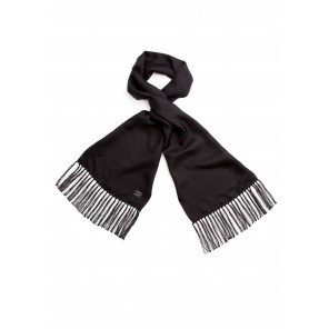 Tootal Black Silk Scarf